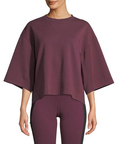 Train Logo Short-Sleeve Pullover Sweatshirt