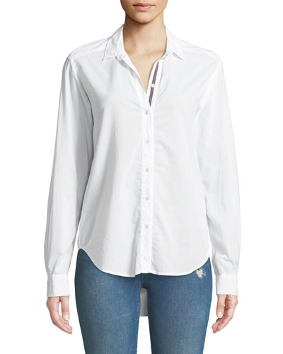 Candra Button-Front Cotton Top