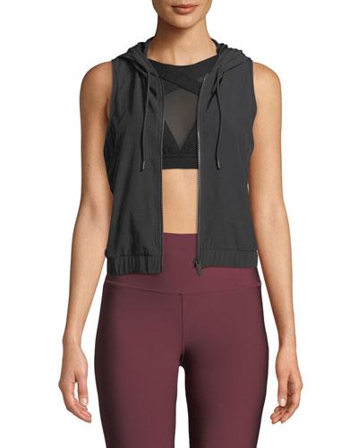 Frame Hooded Mesh Activewear Vest