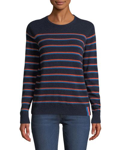 The Samara Striped Cashmere Sweater
