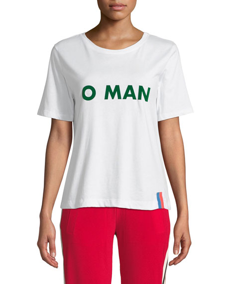 "KULE THE MODERN ""O MAN"" GRAPHIC CREWNECK TEE"