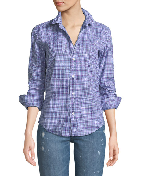 Frank & Eileen Barry Long-Sleeve Button-Front Plaid Top