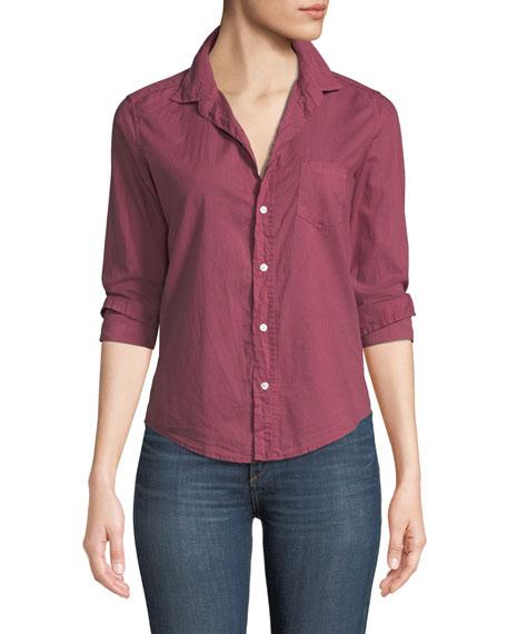 Barry Long-Sleeve Poplin Button-Front Shirt