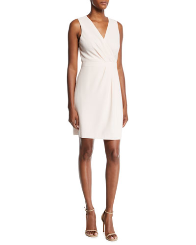 Winhona Draped V-Neck Sleeveless Dress