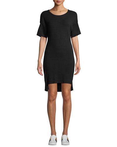 Scoop-Neck Dolman High-Low Tee Dress