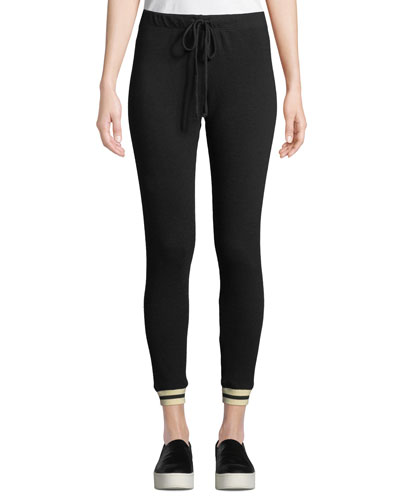 Skinny-Leg Sporty Drawstring Sweatpants