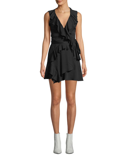 People Sleeveless Ruffle Mini Dress