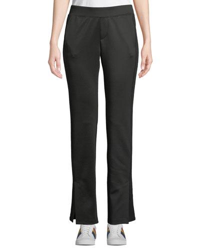 Side-Stripe Scuba Track Pants