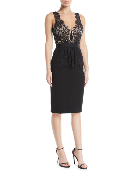 Catherine Deane LILAH RACERBACK DRESS IN LACE & PONTE