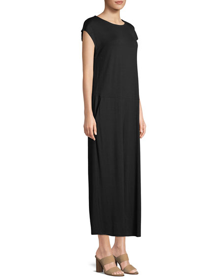Lightweight Viscose Jersey Cap-Sleeve Jumpsuit, Plus Size