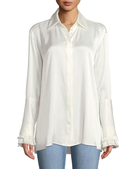 Everlasting Love Silk Button-Front Shirt