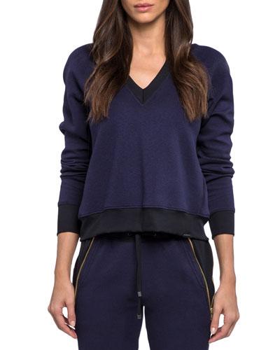 Solitude Gravity V-Neck Pullover Sweatshirt