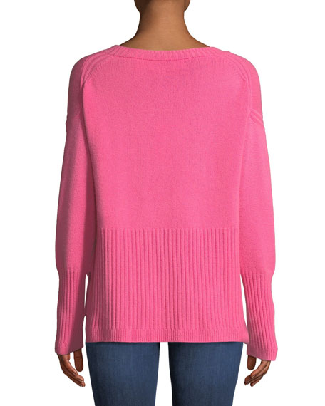 Melange Cashmere V-Neck Sweater