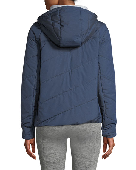 LNDR Jackets TOAST QUILTED ZIP-FRONT HOODED JACKET