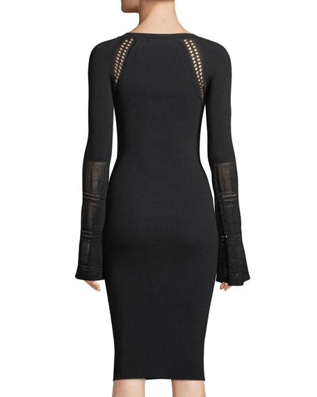 Jill Long-Sleeve Sweater Dress