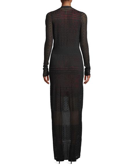 Aviva Gown-Length Knit Cardigan