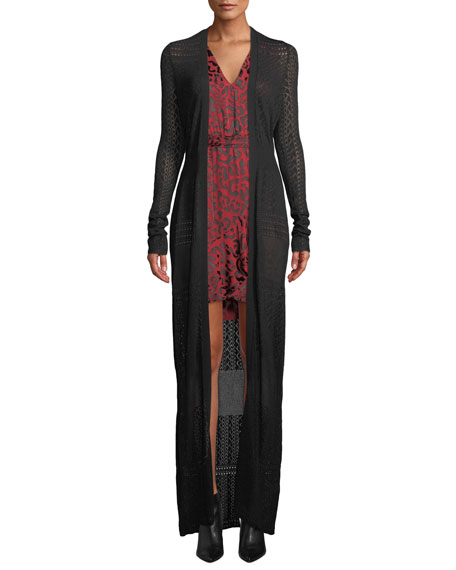 ZAC Zac Posen Aviva Gown-Length Knit Cardigan