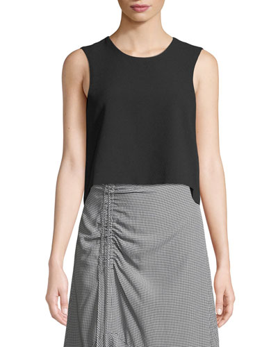 Midian Structured Sleeveless Crop Top