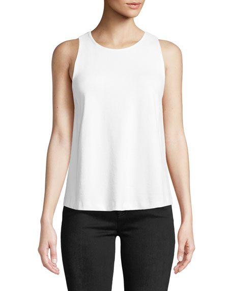Farrenna Crewneck Viscose-Blend Tank