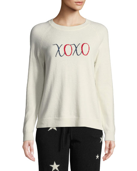 Chinti & Parker Wools XOXO WOOL-CASHMERE PULLOVER SWEATER