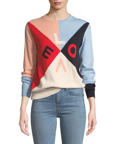 Mexicano Love Colorblock Cashmere Sweater