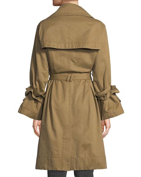 Dusk Ruffle Trench Coat