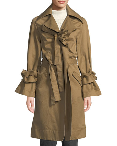 Dusk Ruffle Trench Coat