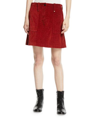 Major Patch-Pocket Short Skirt