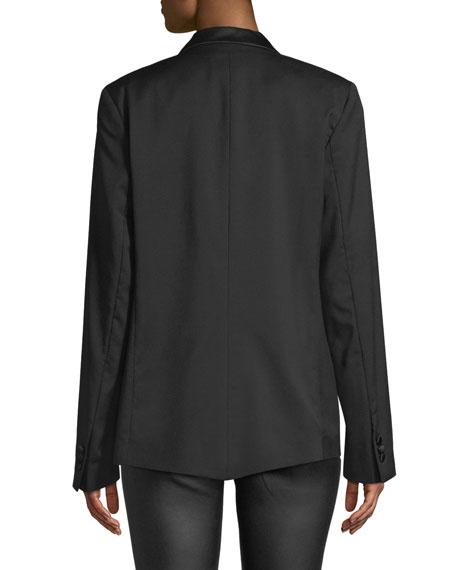 Grayson Open-Front Wool Blazer