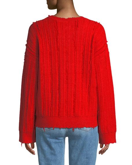 Emmet Distressed Crewneck Sweater