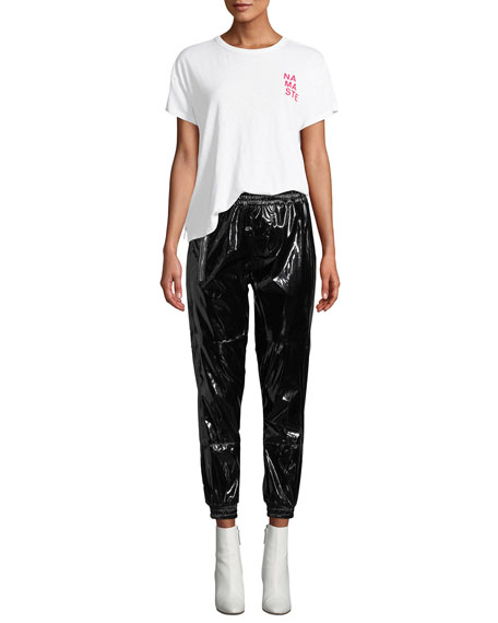 Finn Patent Ankle Track Pants