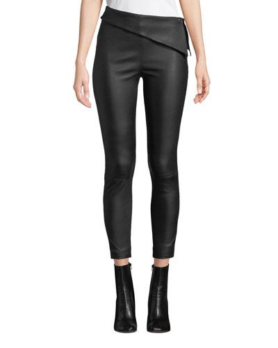 Rumer Leather Fold-Over Leggings