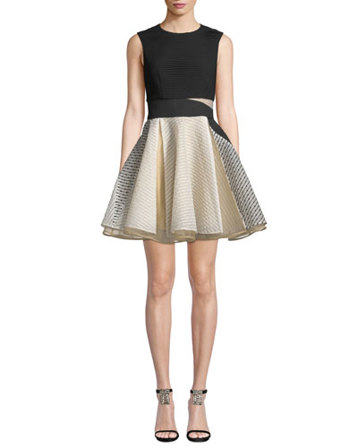 Lara Jacquard Circular Mini Dress