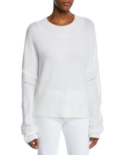 Liam Fuzzy Distressed Pullover Sweater
