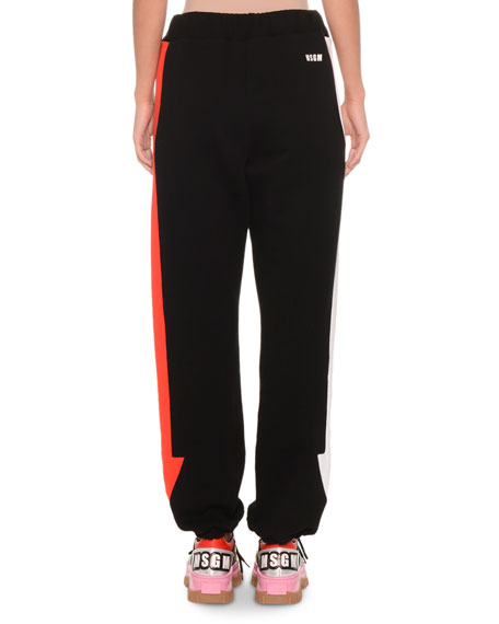 Cotton Jogger Sweatpants w/ Arrows
