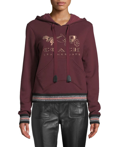 Rexy And Carriage Graphic Pullover Hoodie
