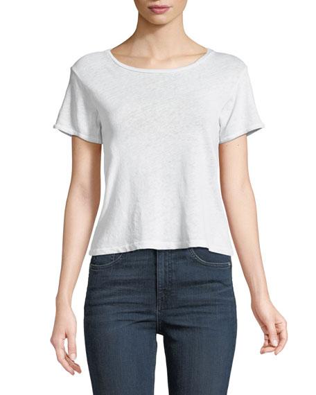 Nerd Short-Sleeve Linen/Cotton Tee