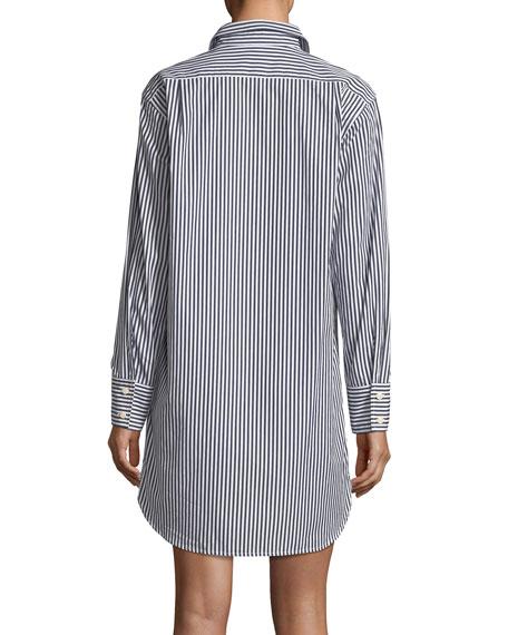 Long-Sleeve Striped Button-Down Shirtdress