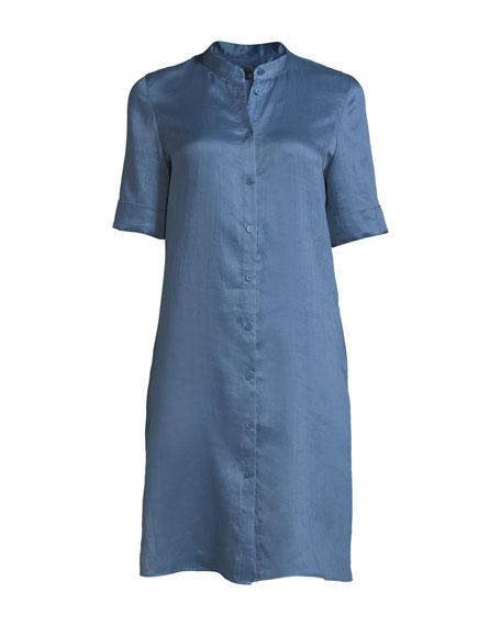 Randi Button-Front Gemma Cloth Tunic