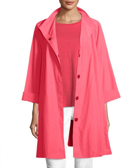 Weather-Resistant Snap-Front Coat, Petite