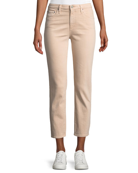Isabelle Cropped Straight-Leg Jeans