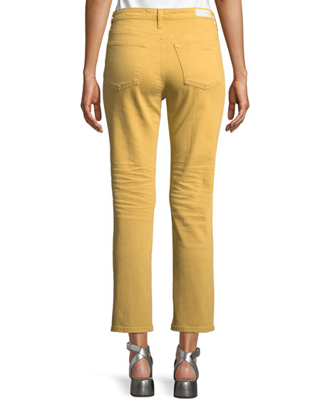 Isabelle Meteor Shower Straight-Leg Ankle Jeans