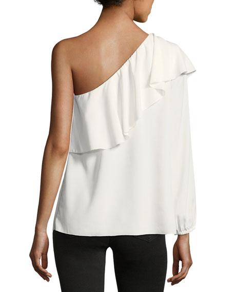 One-Shoulder Ruffled Top