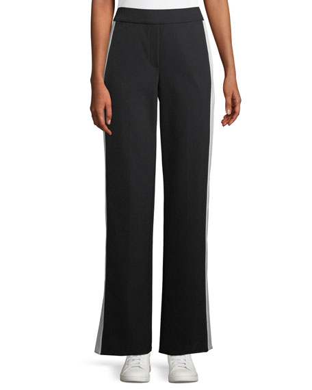 Side-Snap Wide-Leg Perform Tech Pull-On Pants