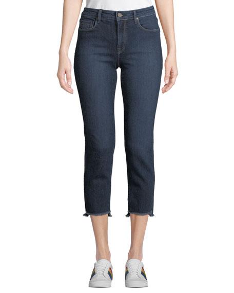 Parker Smith Shark Bite Straight-Leg Jeans, Medium Blue