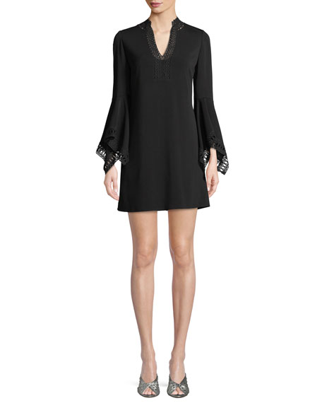 Lavana Bell-Sleeve Mini Dress