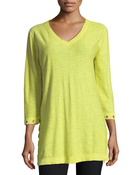 Belford 3/4-Slub V-Neck Sweater