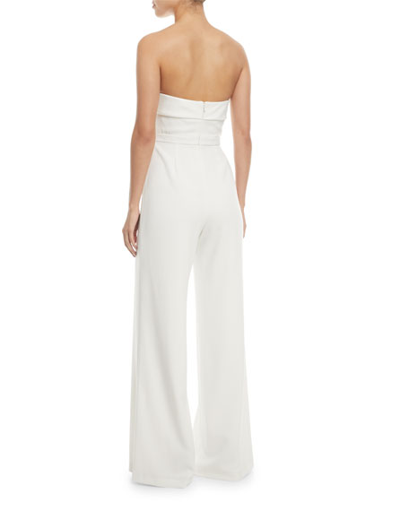 Twist-Front Sleeveless Jumpsuit