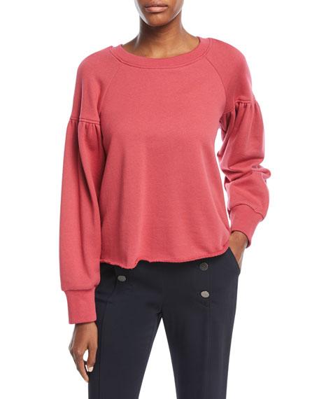 Gilmore Crewneck Long-Sleeve Cotton Sweatshirt