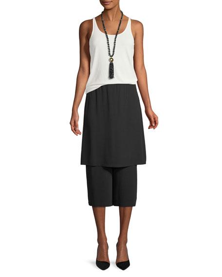 Silk Georgette Wide-Leg Skort